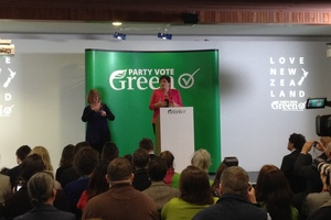 Green Party co-leader Metiria Turei at today's launch. Photo / Brendan Manning