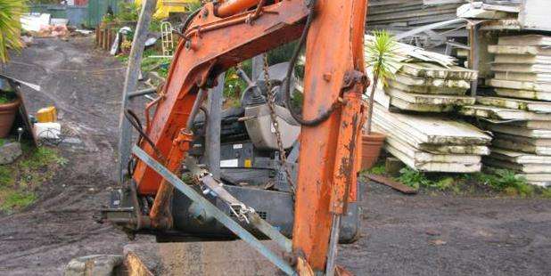 A $30,000 digger was amongst $100,000 of stolen property recovered at a Rodney address.