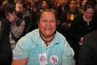 DOOR-KNOCKING: Internet Mana volunteer Ella Hale, 75, Hastings, says late Labour MP Parekura Horomia is sorely missed. PHOTO/DUNCAN BROWN HBT14017101