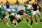 Nathan Tudreu of Manawatu is tackled during the round three ITM Cup match between Wellington. Photo / Getty Images