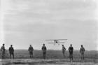 Those magnificent men ... an Australian pilot lands at a Victorian airfield during World War I. Photo / Australian War Memorial