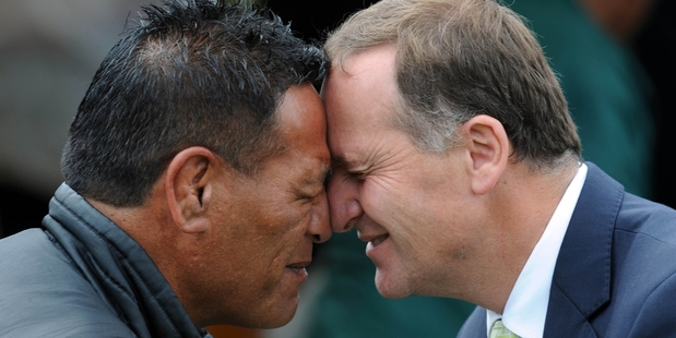 "For many the hongi is preceded with a deep inhalation and a hand shake followed by a few words in Maori such as ""Kia ora"", ""Tena koe"" or in most of my mates' cases, ""Chur my Bro"". Photo / File"