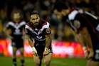 Thomas Leuluai blames a poor attitude and lack of commitment for the Warriors' thrashing by the Roosters last weekend. Photo / Dean Purcell