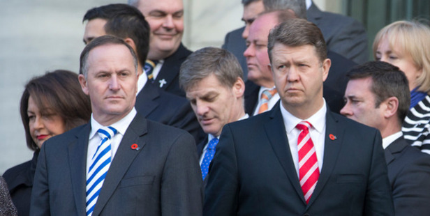 Prime Minister John Key and Labour leader David Cunliffe. Photo / Mark Mitchell