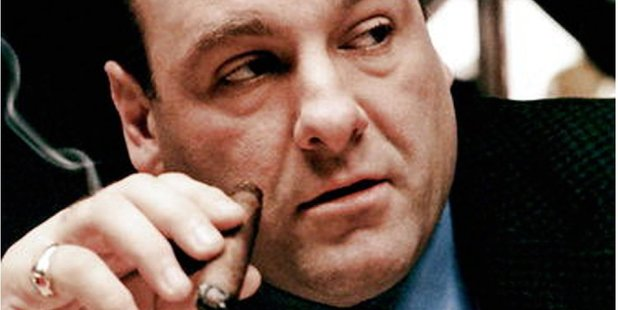 James Gandolfini as Tony Soprano in the award winning television series from HBO.