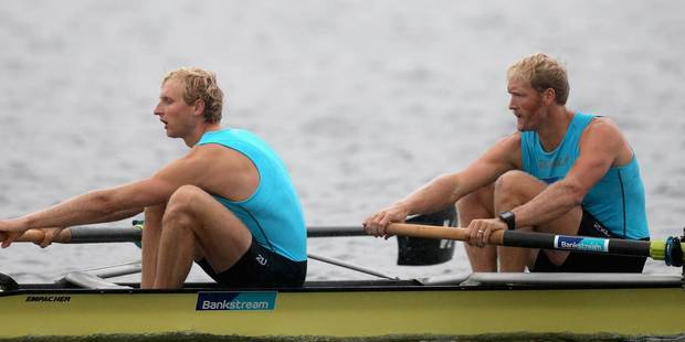 New Zealand rowers Hamish Bond, left, and Eric Murray. Photo / Getty Images