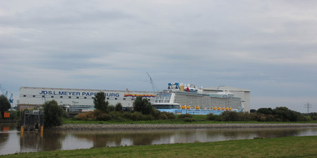 The Quantum of the Seas - being built for Royal Caribbean at the Meyer Werft shipyard in Germany. Photo / Grant Bradley