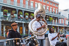 One of New Orleans' many jazz bands performs in front of Cafe Du Monde in New Orleans. Photo / 123RF