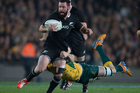 All Blacks 2nd-five Ryan Crotty in action against Australia during the Bledisloe Cup test match between the All Blacks and Wallabies. Photo / Brett Phibbs.