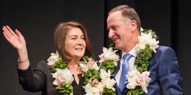 Loading Prime Minister John Key and wife Bronagh at the Vodafone Events Centre in Manukau before the launch of National election campaign on Sunday. Photo / Greg Bowker