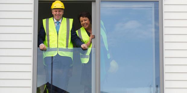 Prime Minister John Key during a recent visit to the Hobsonville Point housing development. Photo / Brett Phibbs.