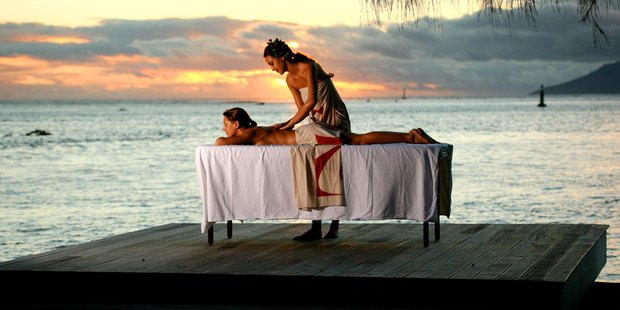 Manava Suite Resort, Tahiti, where you can relax in comfort, or pop out for nearby diving and snorkelling adventures.