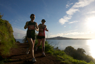 The North Shore Marathon takes place against a backdrop of stunning scenery.  Photo / Scottie T Photography