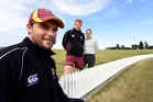Northern Knights captain Danel Flynn (left), coach James Pamment and chief executive Peter Roach at Bay Oval yesterday. PHOTO/GEORGE NOVAK
