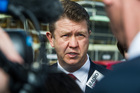 Labour Leader David Cunliffe talks to media in Hobsonville to promote Labour's home ownership policy. Photo / NZ Herald