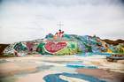 Folk art installation Salvation Mountain, created by Leonard Knight. Picture / Babiche Martens