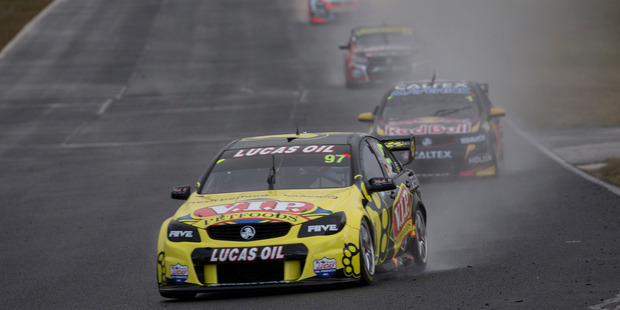 Shane van Gisbergen in the Sydney downpour.  Picture / Edge Photographics