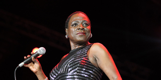Fire and drive have helped make Sharon Jones pictured on stage last month, an audience favourite.
