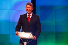 Labour Leader David Cunliffe speaks at the TVNZ leader's debate. Photo / Getty Images