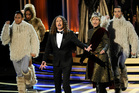 Weird Al Yankovic and Andy Samberg stole the show at the Emmys. Photo / AP