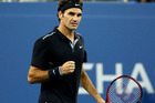 Roger Federer, of Switzerland, reacts after winning a point against Sam Groth, of Australia, during the second round of the U.S. Open tennis tournament Friday. Photo / AP
