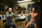 Michael Keaton, left, and Edward Norton in a scene from Birdman. Photo / AP