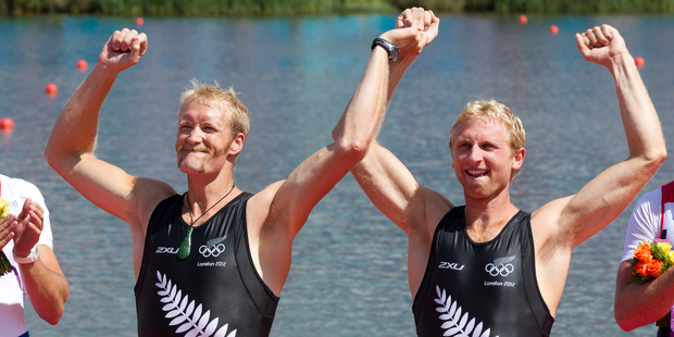 Men's pair Eric Murray and Hamish Bond won their semifinal in 6min 24.98s to add to their coxed pair effort and ensure places in two finals over the weekend. Photo / Brett Phibbs.