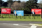 Many vandals have struck this election. Photo / Stuart Munro