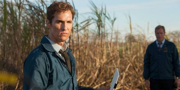 Film actors Mathew McConaughey and Woody Harrelson star in 'True Detective'.