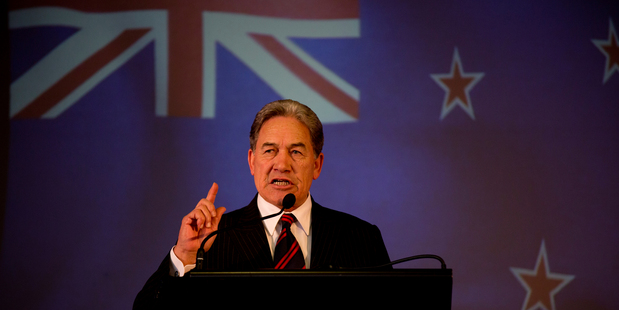 New Zealand First leader Winston Peters during the party's campaign launch at the Kelston Community Hall in west Auckland on August 10. Photo / Dean Purcell