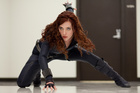 Scarlett Johansson stars as Black Widow.