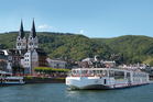 Viking longship Freya sailing on the the Rhine. Photo / Supplied