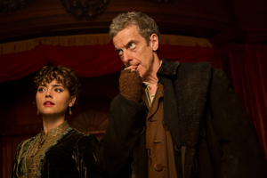 Jenna Coleman as Clara and Peter Capaldi as The Doctor in 'Doctor Who'.