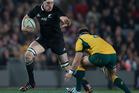 All Blacks lock Brodie Retallick in action against Australia. Photo / Brett Phibbs