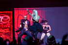 One of Nicky Minaj's back up dancers was bitten by a snake during rehearsals for the MTV Video Music Awards. Photo / AP