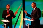 The leaders came across true to form. David Cunliffe, left, swotted up and John Key, right, winged it. Photo / Getty Images