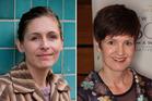 Eleanor Catton, left, and Jill Trevelyan. Photos / NZ Herald