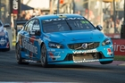 Scott McLaughlin managed his worn tyres well to guide his S60 home. Photo / Mark Horsburgh