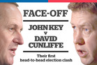 John Key and David Cunliffe will clash in tonight's debate on One. Photo / NZ Herald