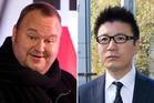 Kim Dotcom, left, and William Yan.