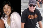 Glenys Stanton, left, and Trevor Waite, right, died when gunned down in bed at Mr Waite's Opaheke, South Auckland, home.