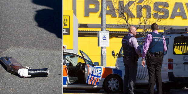 The scene of the shooting yesterday. Photo / NZ Herald
