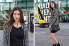Model Renee Wilkins-Foster outside the NZ Fashion Week venue. Picture / James Lowe