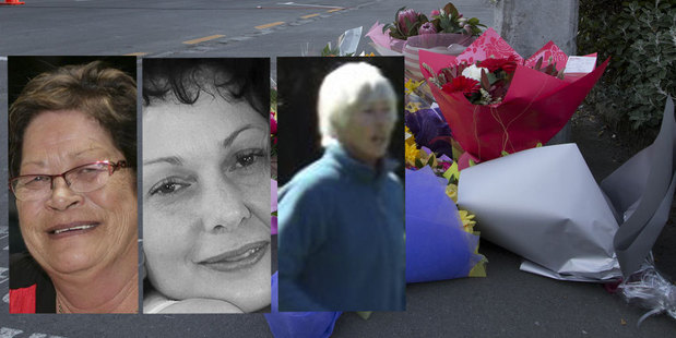 The victims, from left: Peggy Noble, Lindy Curtis and Leigh Cleveland. Photo / APN, supplied