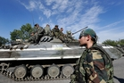 Russian-backed rebels in Ukraine are continuing their fast-paced offensive. Photo / AP