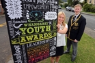 Whangarei Youth Advisory Group deputy chairwoman Pru Rhynd, and chairman Brad Olsen are on the hunt for young people in Whangarei who make a difference in our community. Photo / John Stone