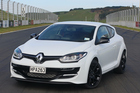 The Renault Megane 265, was a delight to throw around the Hampton Downs track at its launch this week. Photo / Damien O'Carroll