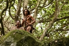 Lawrence Makoare as The Warrior (left) and James Rolleston as Hongi in The Dead Lands.