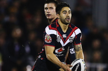 Shaun Johnson of the Warriors. Picture / Hannah Peters, Getty Images.