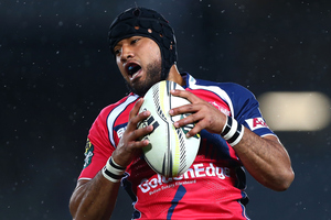 Tevita Koloamatangi of the Tasman Makos. Photo / Getty Images
